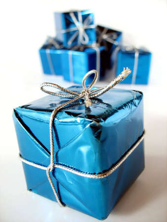 Christmas presents with very special gifts inside Stock Photo - 1932741