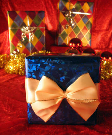 Christmas present with very special gift inside Stock Photo - 2103867