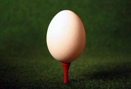 Pegged egg for careful hitting when glofing photo