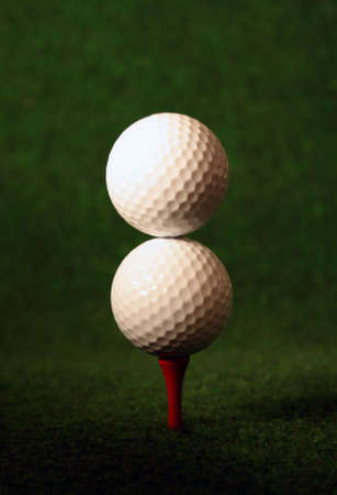 Double golf, only for very skilled golfers Stock Photo