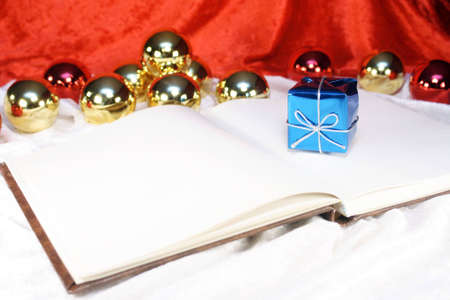 Book for writing Christmas messages or other notes photo