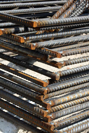 reinforcing: Steel bars for reinforcing concrete or other construction work