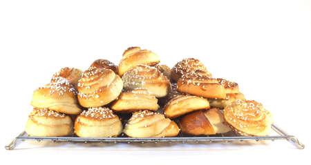 Sweet buns in big bunch Stock Photo
