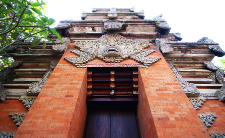 Entrance to hindu temple in Bali, Indonesia Stock Photo