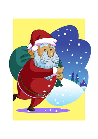Christmas Santa Claus Wallpaper Cartoon Vector Stock Vector 47740149
