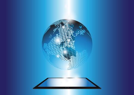 smartdigital: abstract  world  background  blue  design