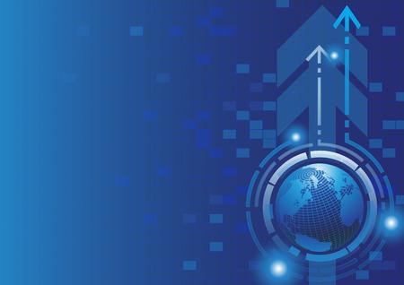 vecteur monde technologie réussite financière Vecteurs