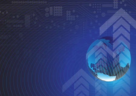 advances: Global communication business financial background