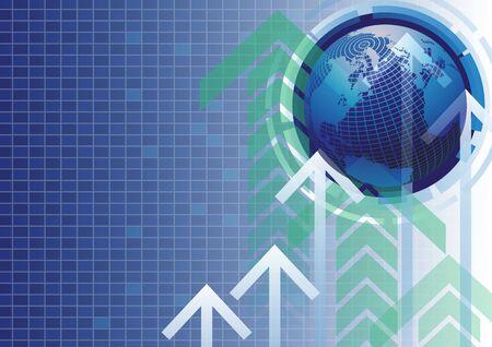advances: Success business advances world background