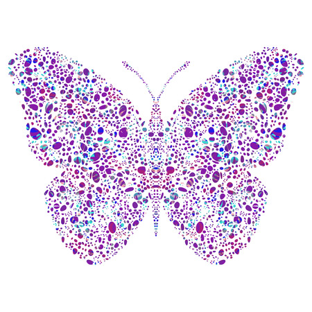 figured: Colorful figured butterfly, decorative butterfly