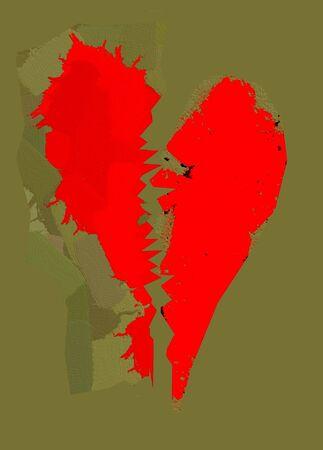 severed: Broken Tattered Grunge Heart