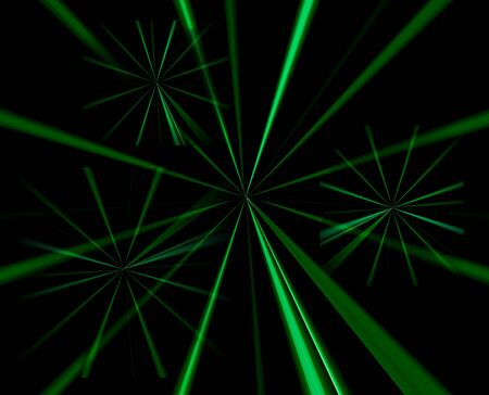 spokes: Abstract Background of green radiating spokes on black background