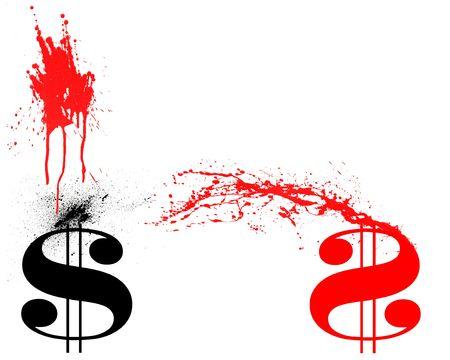 Black ink vs Red Ink Stock fotó