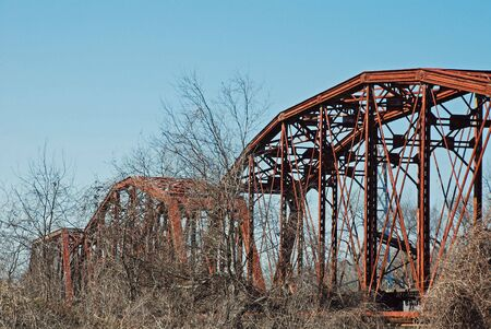 trestle: Rusted Railroad Trestle Stock Photo