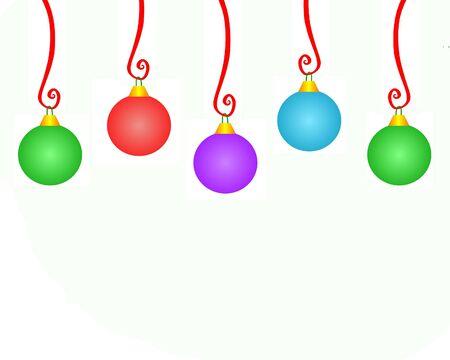curlicue: Christmas Ornament Copyspace