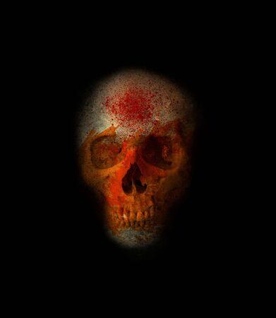 Scary Halloween Skull Stock Photo