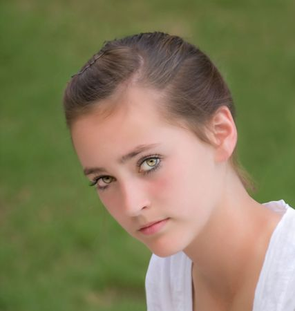 Beautiful teen girl with lovely eyes