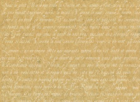 Old Parchment With French Writing Stock Photo - 6263148