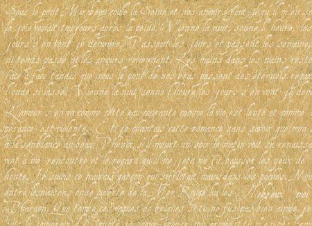 poezie: Oude perkament met Franse schrijven