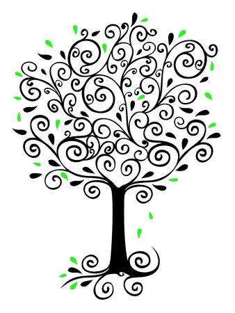Filigree Tree Stock Photo