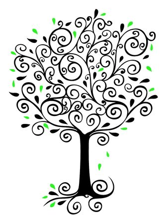 curlicues: Filigree Tree Stock Photo