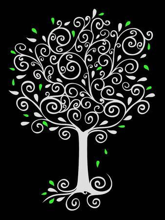 Filigree Tree on Black