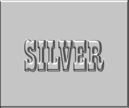 Typography illustration of the word Silver