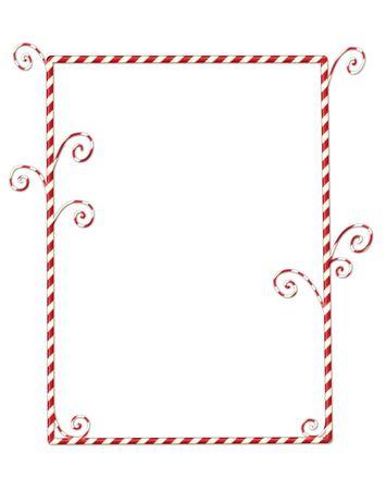 Image de Noël fantasque de candycanes isolées sur blanc  Banque d'images - 7145536