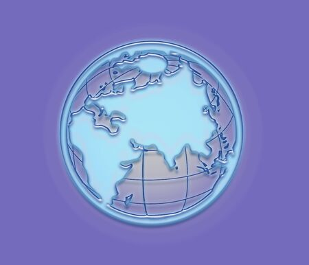 Illustration of a frozen earth from space illustration