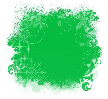 Christmas Green Grunge Background Stock Photo - 7661071