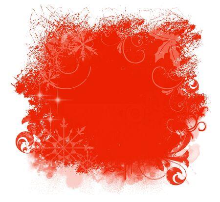 Christmas Red Grunge Background Stock Photo - 7661074