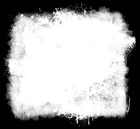 smears: Grunge background of white paint smears on black Stock Photo