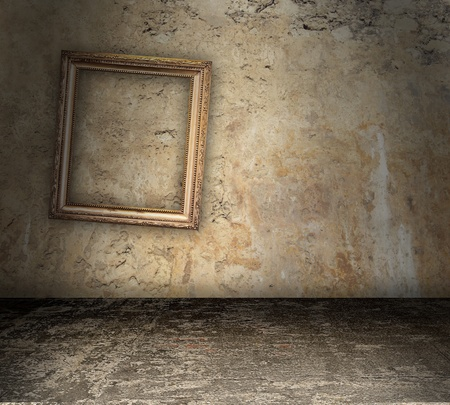Kale betonnen ruimte aan renovatie Stockfoto