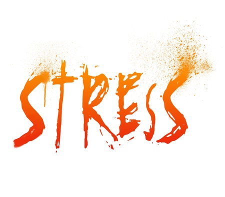 frazzled: Typography illustration of Stress Stock Photo