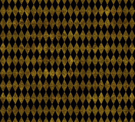 arlecchino: Elegante sfondo di Arlecchino dorata su fondo nero Archivio Fotografico