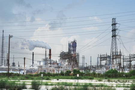 Oil refinery near Houston, Texas USA