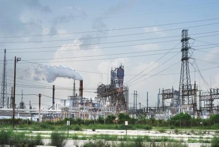 Olieraffinaderij in de buurt van Houston, Texas USA