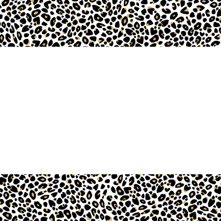 Chic copy space of leopard print with tan center
