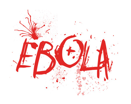 communicable: Typography illustration of the word Ebola Stock Photo