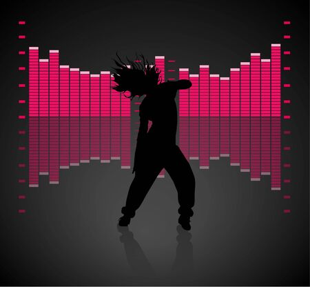 Teen Girl Dancing Stock Vector - 10036812