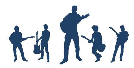 Playing Guitar Series Vettoriali
