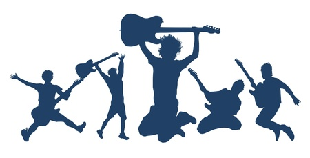 Playing Guitar Series Illustration