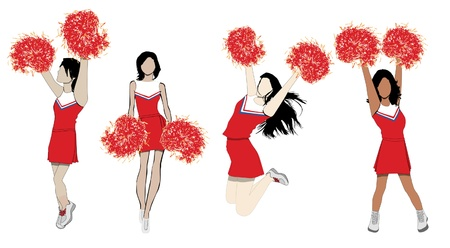 Cheerleaders Stock Vector - 10401163