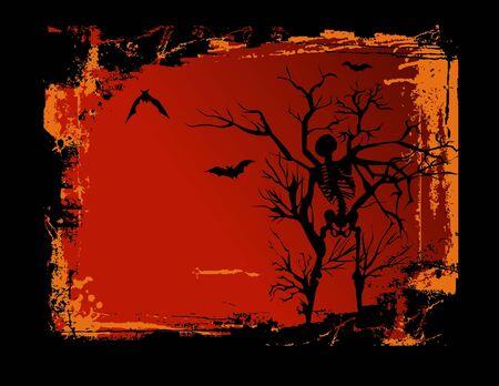 Skeleton Grunge Background Illustration