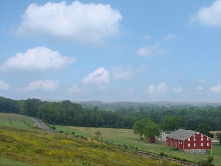 Historic Farm, Gettysburb Pa Stock fotó - 10443619