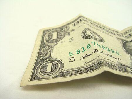 Single Dollar Bill Geïsoleerd Receptie Stockfoto