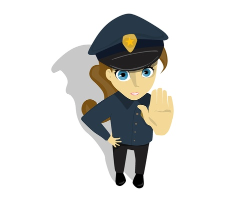 Woman Police Officer Illustration