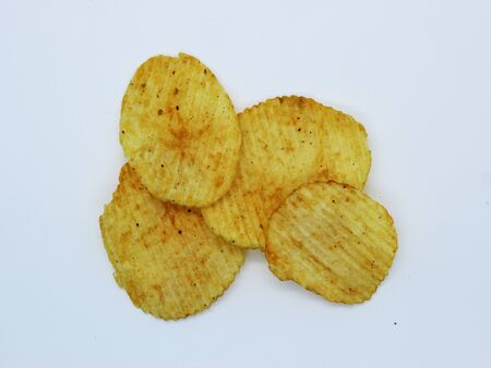 Potato fried crisps background