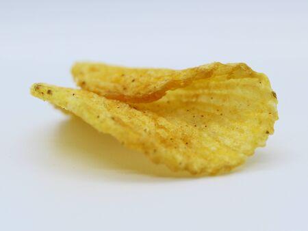 Potato fried crisps background