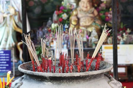 Worship incense stick THAILAND background